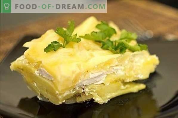 Kipfilet met aardappelen is niet eenvoudig, maar heel eenvoudig! Stoofschotels, stoofschotels, broodjes, zure en andere recepten met kipfilet en aardappel