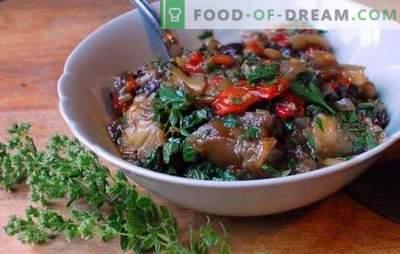 Gestoofde kool met aubergines - de vriendschap was een succes! Recepten voor gestoofde kool met aubergines en kip, aardappelen, champignons, groenten