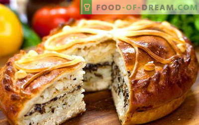 Kurnik - de beste recepten. Hoe goed en smakelijk kip koken met aardappelen, kip en bladerdeeg.