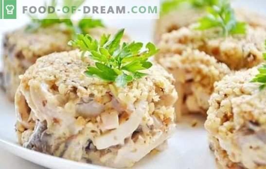 Salade met inktvis: een stapsgewijs recept voor een feestelijke of eenvoudige snack. Stapsgewijze recepten voor salades met inktvis: koken, genieten van