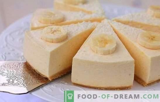 Bananensoufflé - een bewolkt dessert met een magisch aroma! Simpele recepten voor bananensoufflé met cottage cheese, griesmeel, chocolade