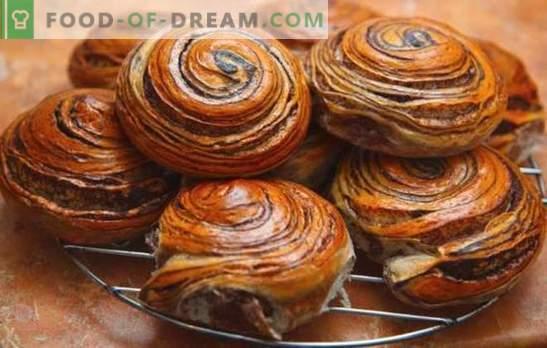 Broodjes met chocolade - het geheim zit erin. Het deeg voor broodjes met chocolade, hoe gebak te maken, welke chocolade is het beter om
