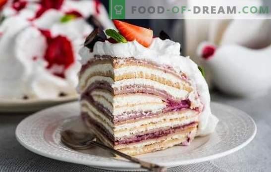 Geheimen van pannenkoekenkoek met pannenkoeken. Zes recepten van klassieke en originele pannenkoeken met wrongelroom