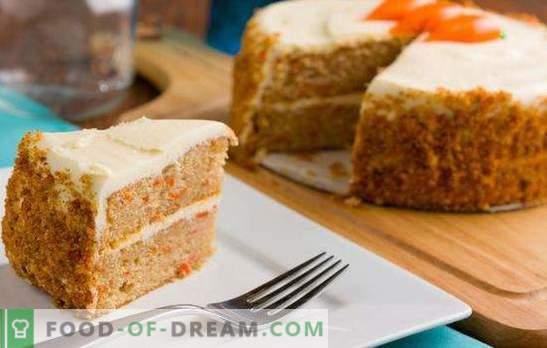 Wortelbiscuit - zonnig dessert! Recepten van delicate wortelkoekjes met noten, pruimen, zest in een slowcooker en oven