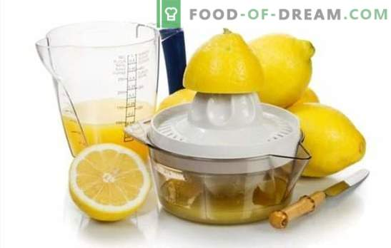 Citroensap maken - recepten met een goddelijke smaak! Citroensap: recepten met alcoholische en niet-alcoholische dranken
