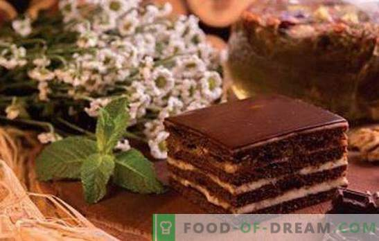 Spartacus-cake - recepten voor honing en chocoladezaligheid! Alle geheimen, trucs, verschillende opties en recepten van de taart