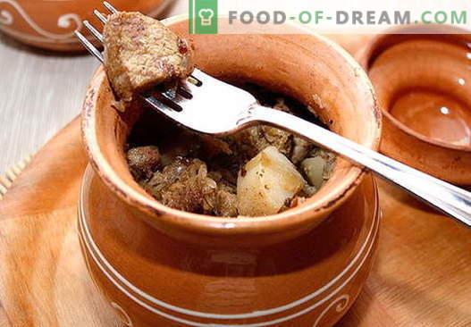 Varkensvlees in de pot - de beste recepten. Hoe goed en smakelijk varkensvlees in een pot koken.