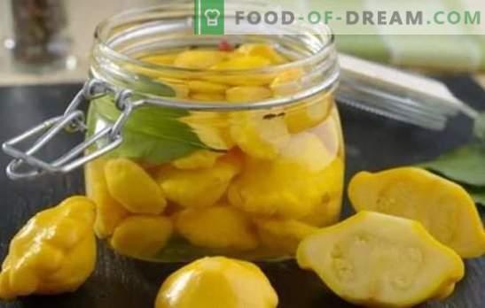 Squash: snelle en smakelijke recepten voor de winter. De beste snelle recepten voor smakelijke patissons voor de winter