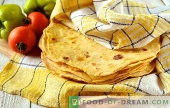 Mexicaanse tortilla cake - lekker en gemakkelijk! Enchiladas, nacho's, quesadilla, burrito's, chimichanga - recepten met Mexicaanse platte brood