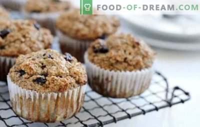 Muffins met rozijnen - dit zijn de cupcakes! Recepten van zachte, zachte en geurige muffins met rozijnen voor heerlijk thee drinken