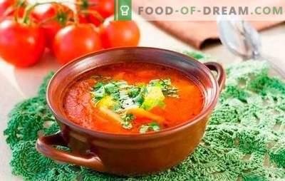 Kharcho-soep: gekookt volgens eenvoudige recepten. Subtiliteiten en geheimen van kooksoep Kharcho: eenvoudige recepten met rundvlees, lam, kip