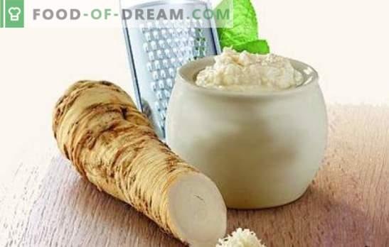 Kruidig stel - mierikswortel met knoflook. Wij maken smaakmakers en sauzen, bewaren en bereiden mierikswortel snacks voor met knoflook