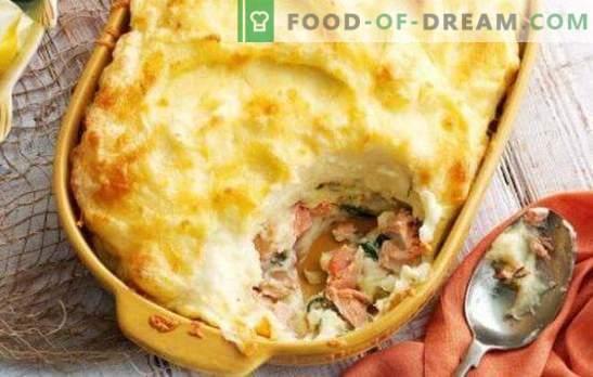 Visbraadpan in de oven - een meesterwerk van eenvoudige producten! Varianten van visbraadpannen in de oven met rijst, aardappelen, kool, groentemengsel