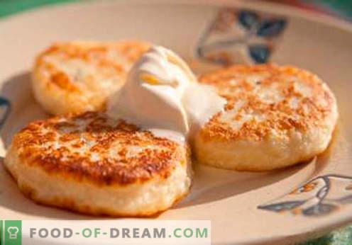 Cheesecakes met griesmeel - de beste recepten. Hoe om snel en smakelijk cheesecakes met griesmeel koken.