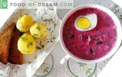 Bietenkoelkast: een stapsgewijs recept voor zomersoep. Makkelijke en verfrissende stap-voor-stap recepten van holodnik van verse en ingemaakte bieten