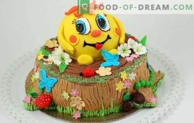 Kindercake met hun eigen handen - voor de meest geliefde liefjes! Recepten eenvoudige en mooie kinder doe-het-zelf taarten