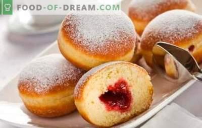 Donuts met jam - een traditie die al sinds de kindertijd bekend is. Hoe heerlijke donuts te bereiden met gefrituurde jam en oven