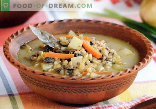 Gerstsoep - bewezen recepten. Hoe goed en lekker soep koken met gerst.