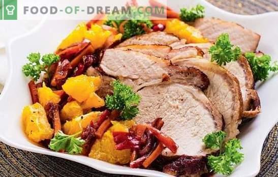Varkensvlees met sinaasappels in de oven - een exotische smaak! Verschillende recepten voor zacht en smakelijk varkensvlees met sinaasappels in een gourmetoven