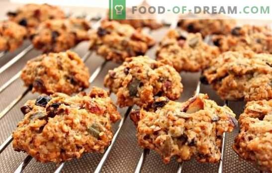 Havermoutkoekjes zonder bakken - de oven is niet nodig! Gezonde en smakelijke havermoutkoekjes koken zonder thuis te bakken