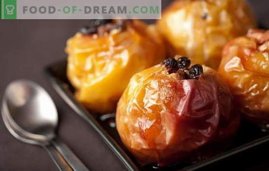 Probeer een toetje makkelijker te maken dan appels in de oven met honing! Recepten geweldige zure appels in de oven met honing