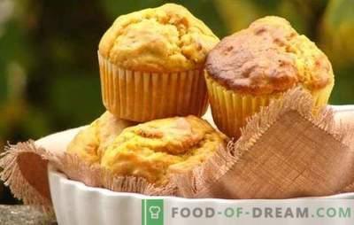 Pumpkin Cupcake - Bakken met voordeel! Een selectie van recepten met muffins met pompoen en rozijnen, gekonfijt fruit, ontbijtgranen, chocolade, noten