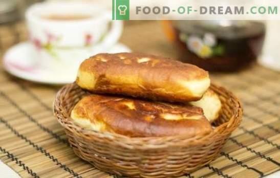 Gebakken jamtaarten - dezelfde smaak, dezelfde smaak! Recepten van gebakken taarten met jam uit ander deeg