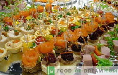 Snelle snacks: regels van smaak. Ideeën voor het maken van snelle snacks voor dure maar onverwachte gasten