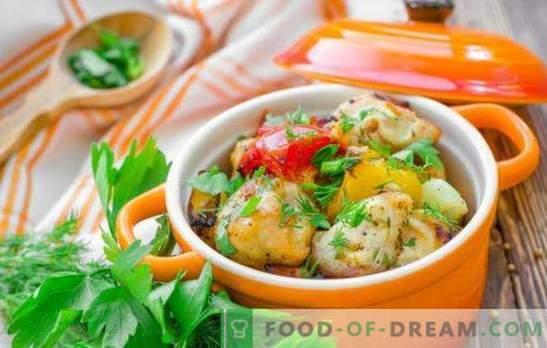 Kipfilet in de pot - een win-win! Recepten van malse kippenborst in potten met groenten, champignons, boekweit, fruit