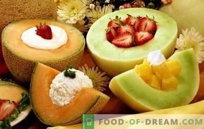 Meloen-desserts zijn een aromatische delicatesse voor zoete tanden. Een selectie van de beste recepten voor meloen-desserts