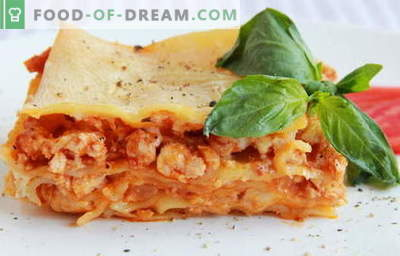 Chicken Lasagna - de beste recepten. Hoe goed en smakelijk lasagne met kip koken.