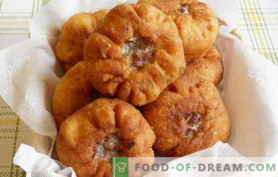 Hoe belyashi thuis te maken met vlees en andere vullingen. Hoe belyashi thuis te maken, dus ze zijn lekker en smakelijk