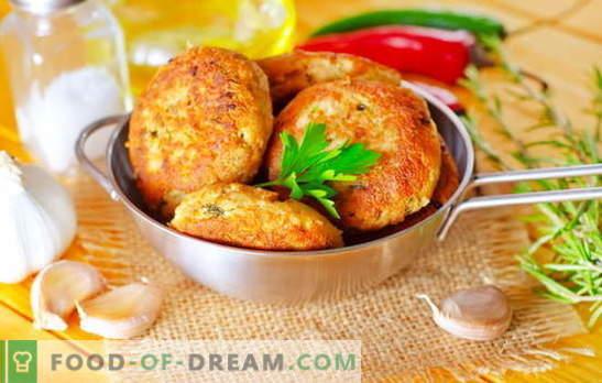 Roze zalmkoteletten zijn een meesterwerk voor visliefhebbers. Recepten voor roze zalmballetjes met kaas, rijst, kwark, inktvis en groen