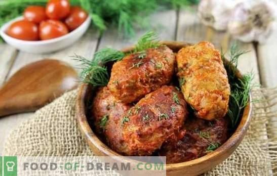 Grechanik met gehakt in de oven is niet alleen hamburgers! Het koken van geurig en sappig Grieks in de oven met sausen, paddestoelen, lever