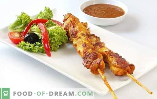 Borstkebab is de voedingsvariant van het favoriete gerecht. Pickles recepten en manieren om borst kebab te koken