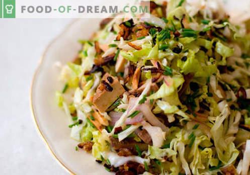 Lentesalade - een selectie van de beste recepten. Hoe goed en smakelijk koken lente salade.