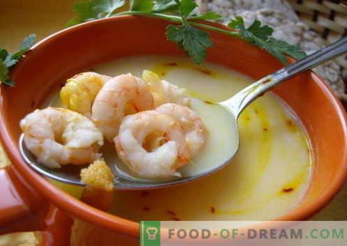 Garnalensoep - de beste recepten. Hoe goed en smakelijk soep met garnalen koken.