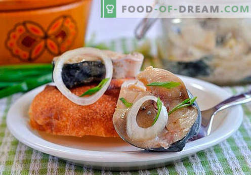 Gemarineerde makreel - de beste recepten. Makreel thuis marineren.