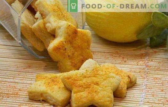 Citroenkoekjes - voor een zonnige stemming! Recepten voor heerlijke citroenkoekjes: zandkoekjes, koekjes, Frans