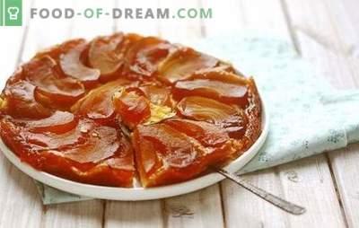 Tatin met appels - Franse vormverwisselaar! Klassieke en vereenvoudigde recepten Gegarneerd met appels