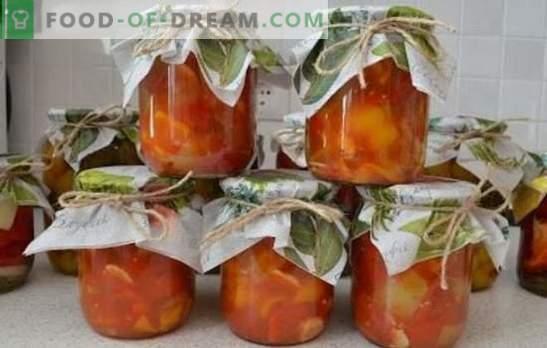 Tomaten met peper en knoflook - een aromatisch trio. De beste recepten voor snacks en blanco tomaten met paprika en knoflook: snel, voor de winter, pittig, Koreaans