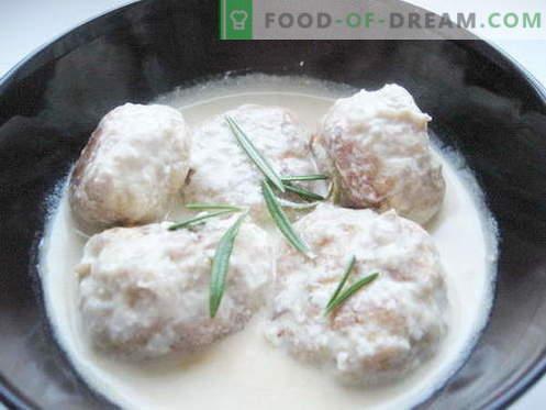 Roomsaus - de beste recepten. Hoe goed en smakelijk gekookte roomsaus.