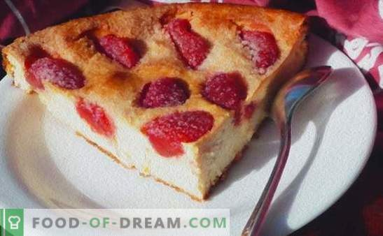 De zomer verwent ons met veel gezichten met aardbeientaarten (recepten met foto's). Varianten van verschillende taarten met aardbeien: gist, gegeleerd, zanderig