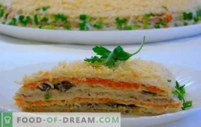 Snackcakes gemaakt van wafeltje en bladerdeeggebak - snel en op een originele manier! Gemakkelijke recepten snack cake