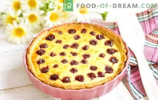 Cake met kersen - geweldige smaken! Recepten van verschillende soorten gebak met kersen: koekjes, pastei, cakes, strudel, muffins