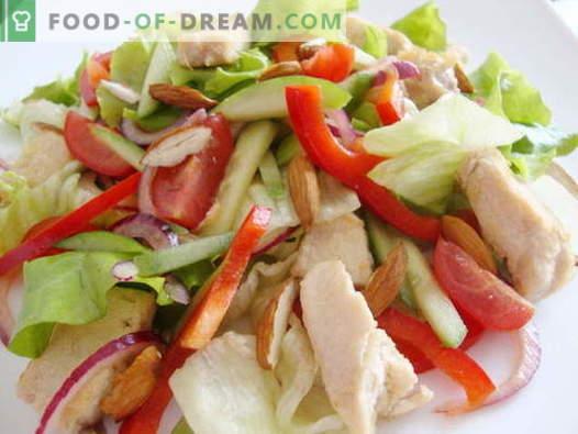 Kip- en komkommersalade - de beste recepten. Hoe goed en smakelijk een salade bereiden met kip en komkommer.