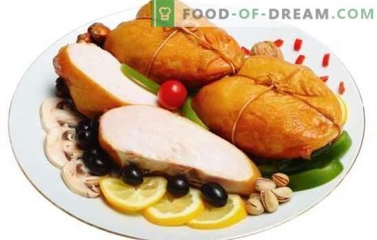 Gerookte borst: aromatisch dieetvlees. De beste recepten voor zelfgemaakte gerookte borsten. Wat kun je ermee koken?