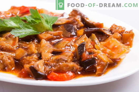 Gestoofde aubergines zijn de beste recepten. Hoe goed en smakelijk koken gestoofde aubergine.