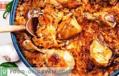 Sappige stoofpot en lichte solyanka van gestoofde kool met kip in een slowcooker. Kip met kool in een slowcooker - gemakkelijk en bevredigend