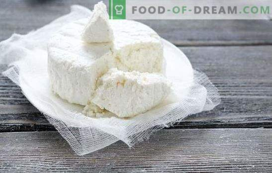 Kookfouten van zelfgemaakte kwark en kaas